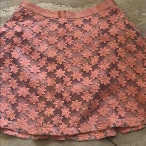 Topshop A Line lace floral overlay skirt